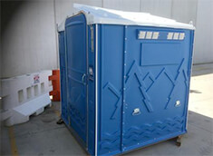 Blue Hire Toilet
