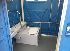 Inside Hire Toilet